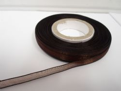 Chestnut, Dark Brown Sheer organza ribbon, 2, 10 or 25 metre roll, Double sided 3mm 9mm 15mm 25mm 40mm